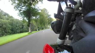 Riding Triumph Street Triple R Through Luxembourg CR349