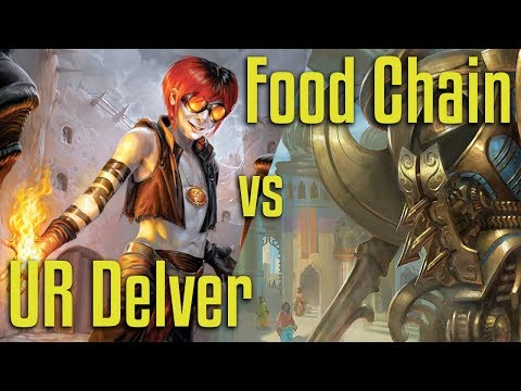 Brainstorm MTG | Legacy Magic: The Gathering | UR Delver VS Food Chain - FINALS