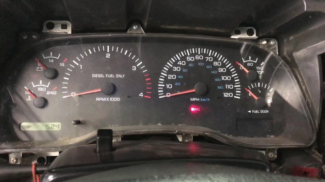 99 dodge ram 2500 gauge cluster  [ 1280 x 720 Pixel ]