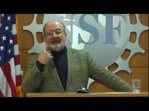 Nassim Taleb lectures at National Science Foundation