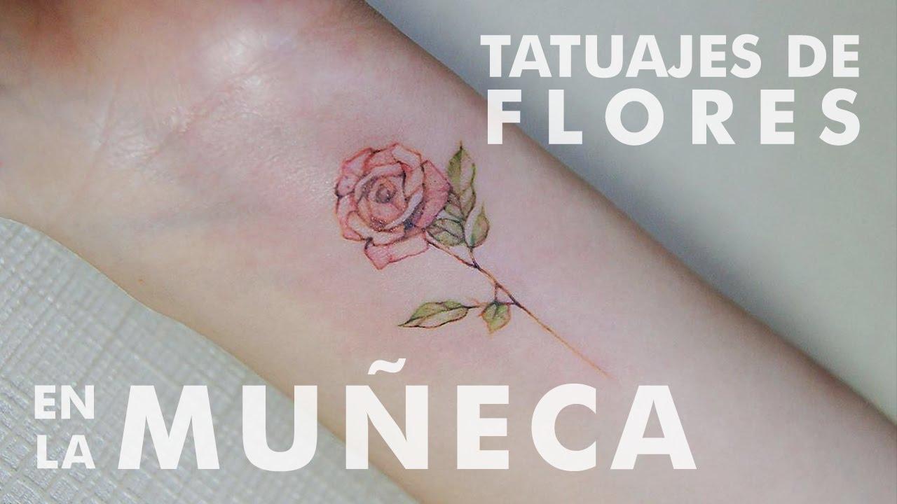 Tatuajes De Flores En La Muñeca Youtube