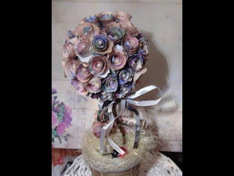 Денежное дерево. Цветочный топиарий из купюр