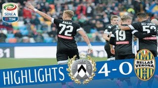 Udinese-h. verona 4-0marcatori: pt 26' barak, 43' widmer; st 23' 35' lasagnaudinese (3-5-2): bizzarri; stryger larsen, larangeira, nuytinck; widmer, b...