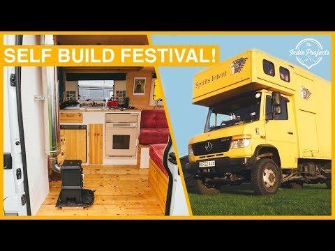 10 Custom Self Build VAN Tours! Camp Quirky 2018 - Van Life Festival 🚌