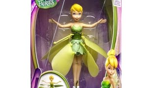 Disney flutterbye flying tinkerbell fairy unboxing let's play faries