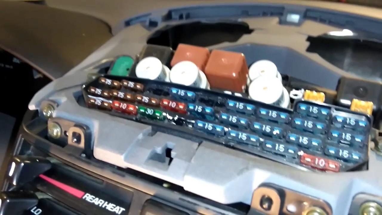 2004 Tacoma Fuse Box Fuse Box Location On A Toyota Previa Youtube