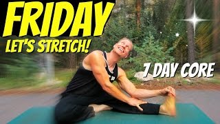 friday super bendy stretch and gentle core routine 7 day core challenge 7daycorechallenge