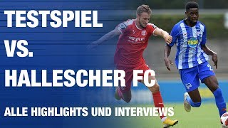 Testspiel vs. Hallescher FC - Highlights - Interviews - Hertha BSC - Berlin - 2018 #hahohe