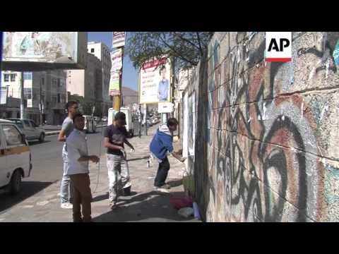 Yemeni street artists address national issues with spray cans