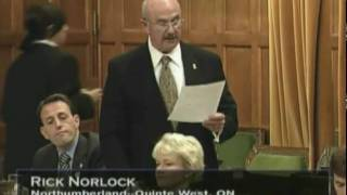 Rick Norlock - Private Members Bill Introduction.wmv
