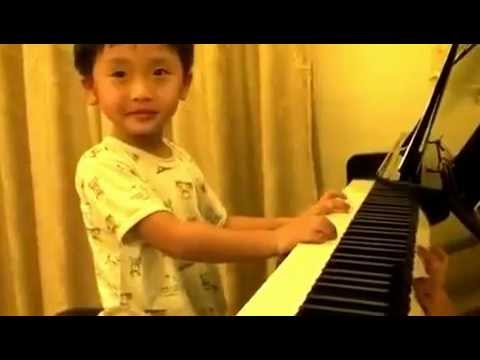 4 Year Old Playing Piano