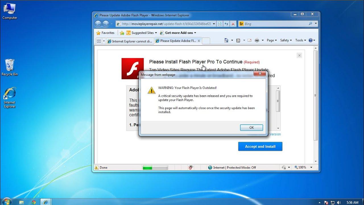 adobe flash player update annoying