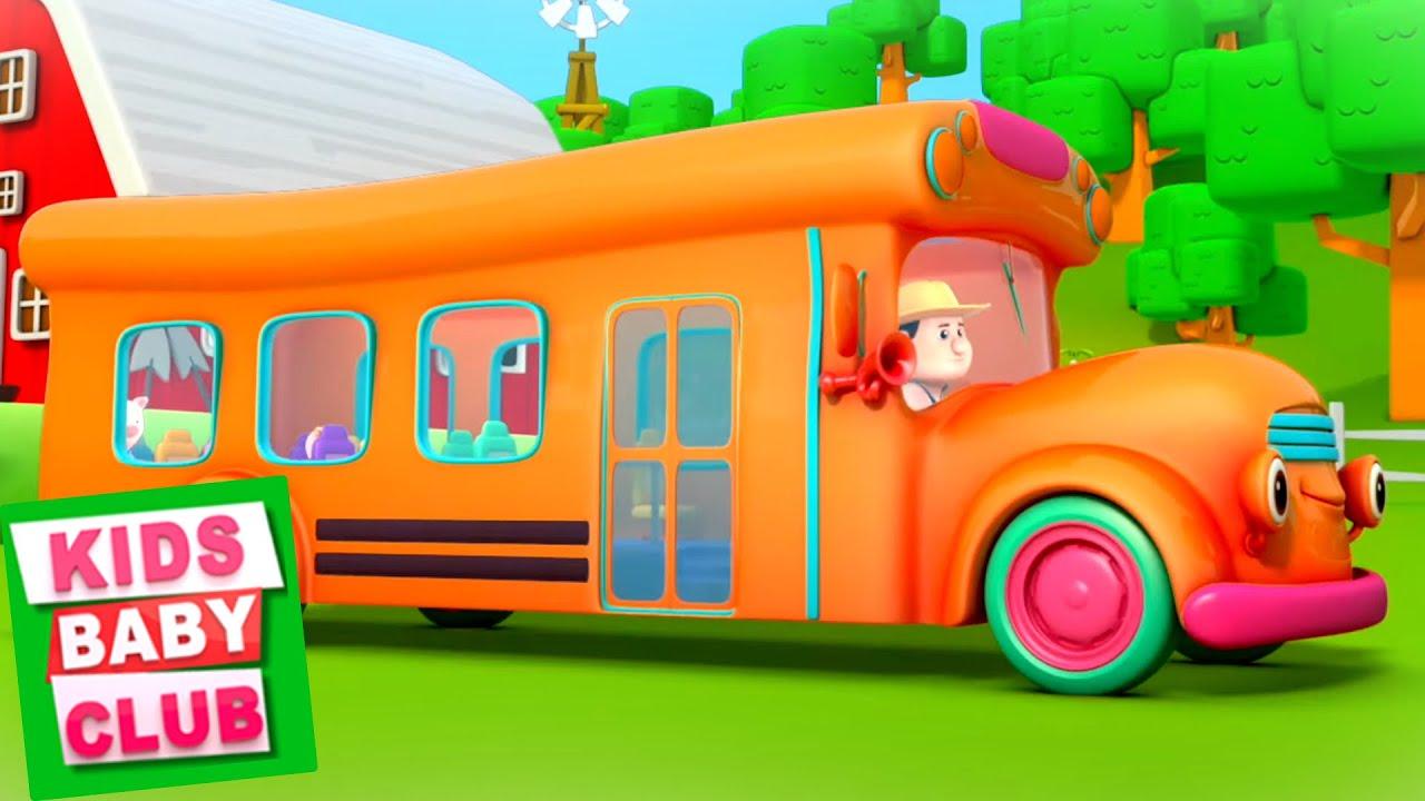 Orange Wheels On The Bus Song | Nursery Rhymes And Cartoon Videos from Kids Baby Club