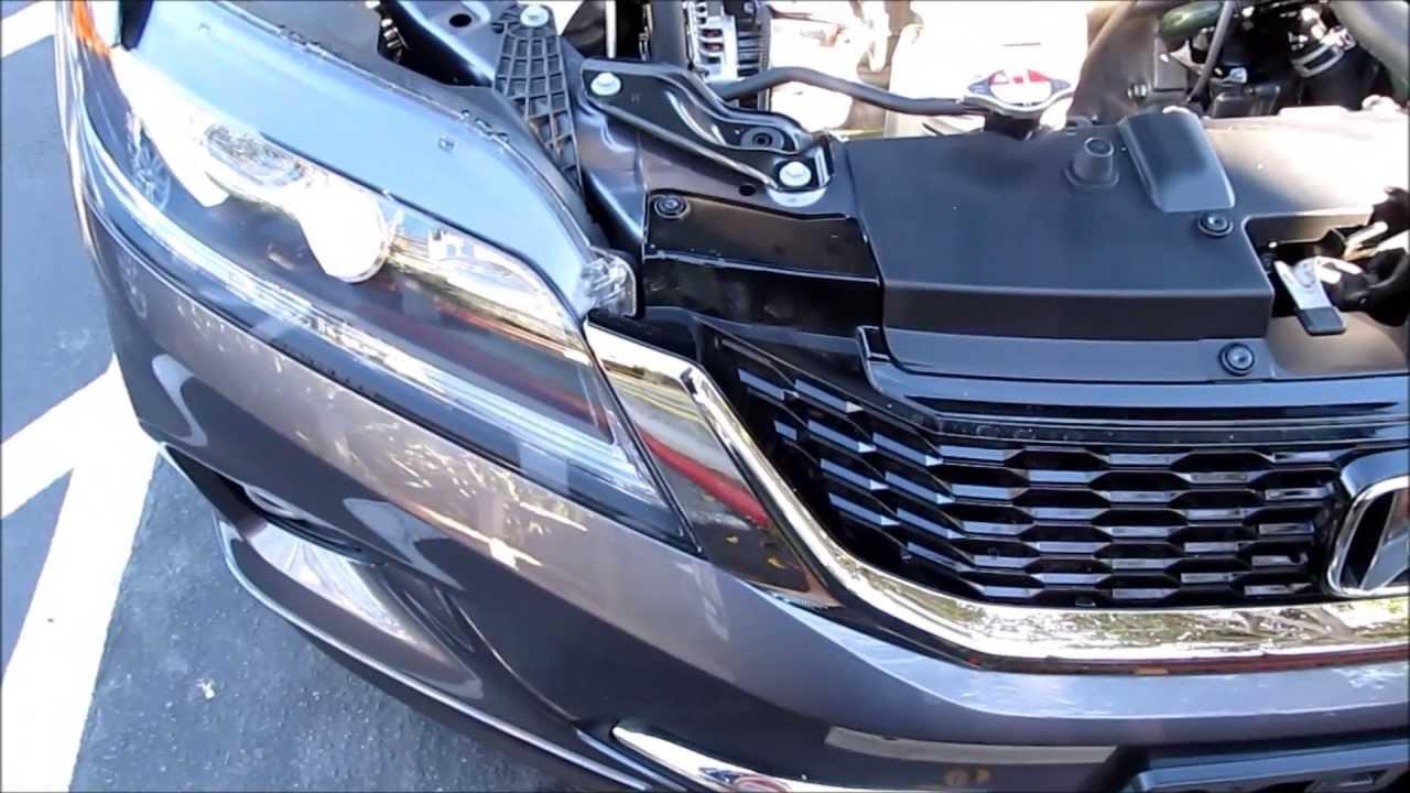 Car Headlight Bulb Diagram 7 Pin Hitch Wiring Diy 2013 2014 2015 Honda Accord Drl Light To Led - Youtube