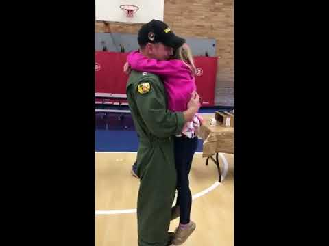 Joey Brooks - Little Girl Reunited with Military Dad in School Cafeteria