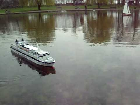 Radio controlled model boat -Finnjet, cruise ferry