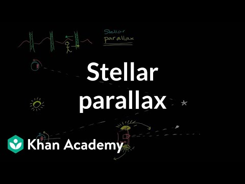Stellar parallax | Stars, black holes and galaxies | Cosmology & Astronomy | Khan Academy