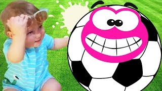 Soccer (Football) Song| Petya for best nursery rhymes learning play football in kindergarden