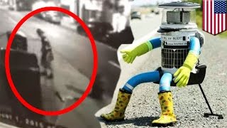 HitchBOT beheaded in Philadelphia after being treated nicely everywhere else - TomoNews