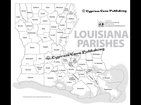 Louisiana Parishes Maps by Cypress Cove Publishing YouTube