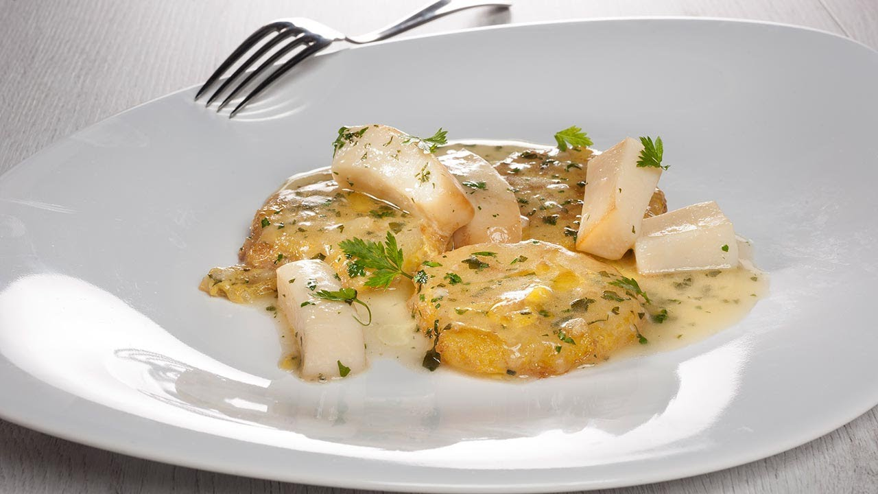 Patatas rebozadas con choco en salsa verde 🥔 - Cocina con Bruno Oteiza