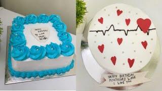 2 Simple Birthday cake decoration/Cake design