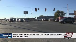 Residents push for improvements on dark stretch of FM 78 in Kirby