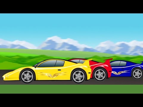 sports car | race | cartoon car racing for children
