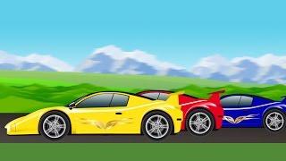spor araba | yarış | araba çizgi film çocuklar için yarış