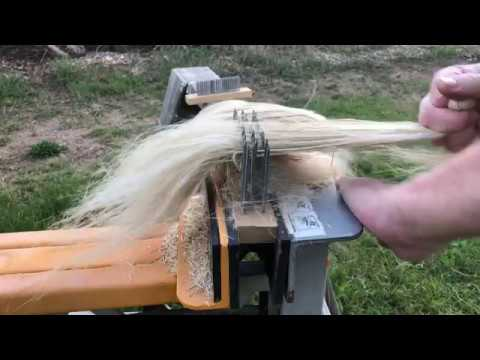 Scutch And Hackle Flax Fiber