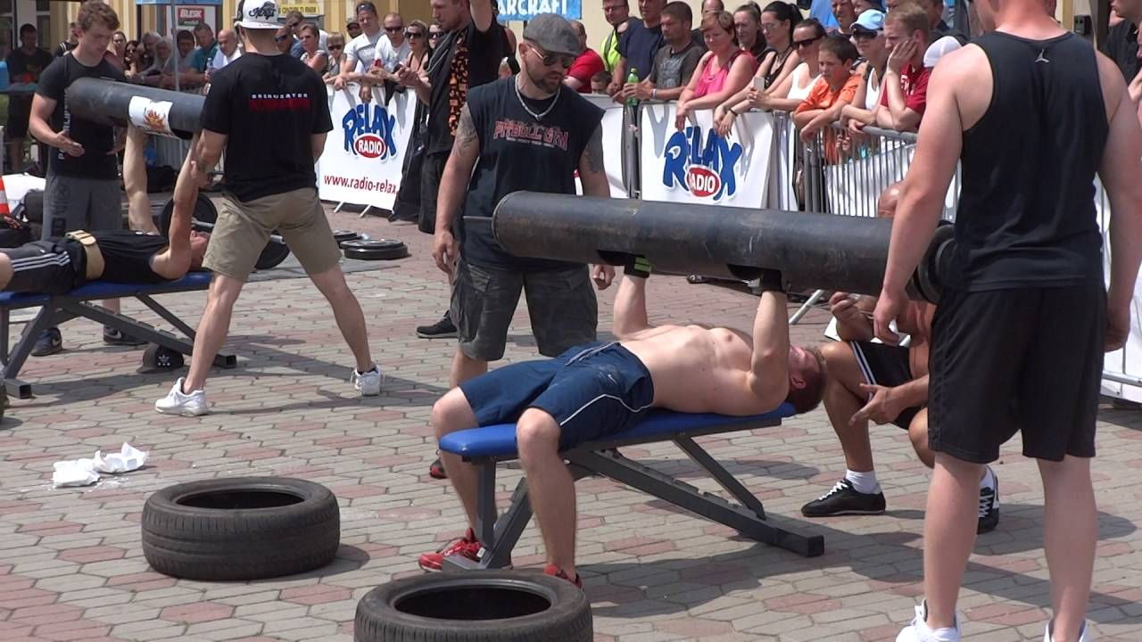 Strongman Bench Press Part - 21: Kralupy 2016 Log Bench Press