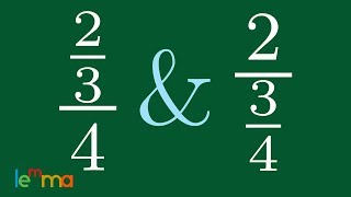 How to Simplify a Fra¢tion over a Number and a Number over a Fraction