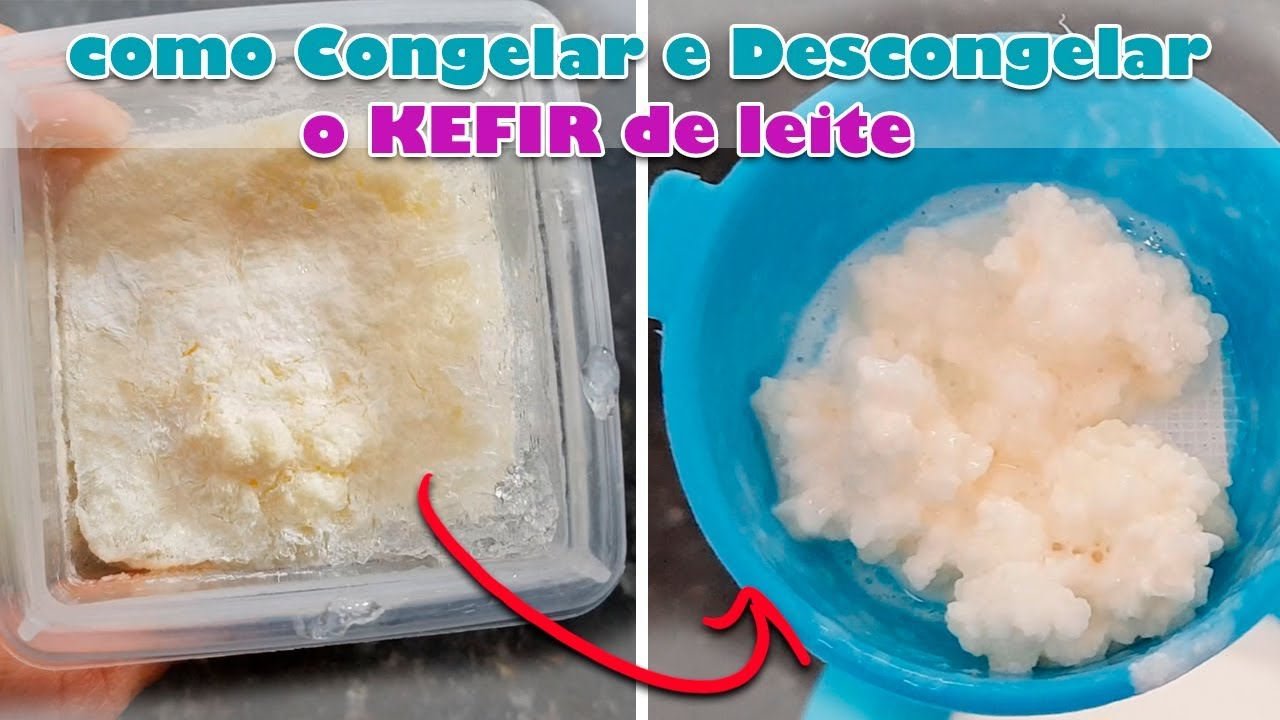 como voltar a usar o kefir congelado