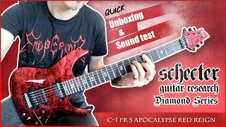 Schecter Diamond Series C-1 FR S Apocalypse Red Reign Guitar  -  Quick Unboxing & Sound Test