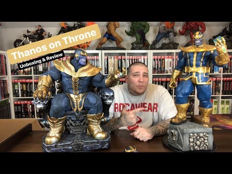 Thanos On Throne Maquette by Sideshow Collectibles Unboxing & Review