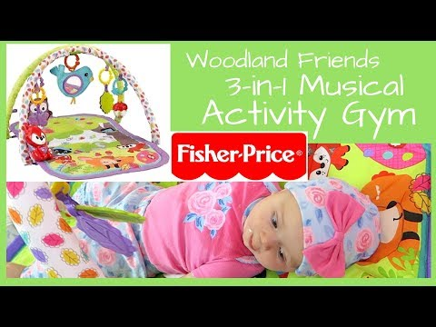 Fisher Price 3 In 1 Musical Activity Gym Woodland Friends🦁🌿 Baby Bellas First Toy Review! Mobile