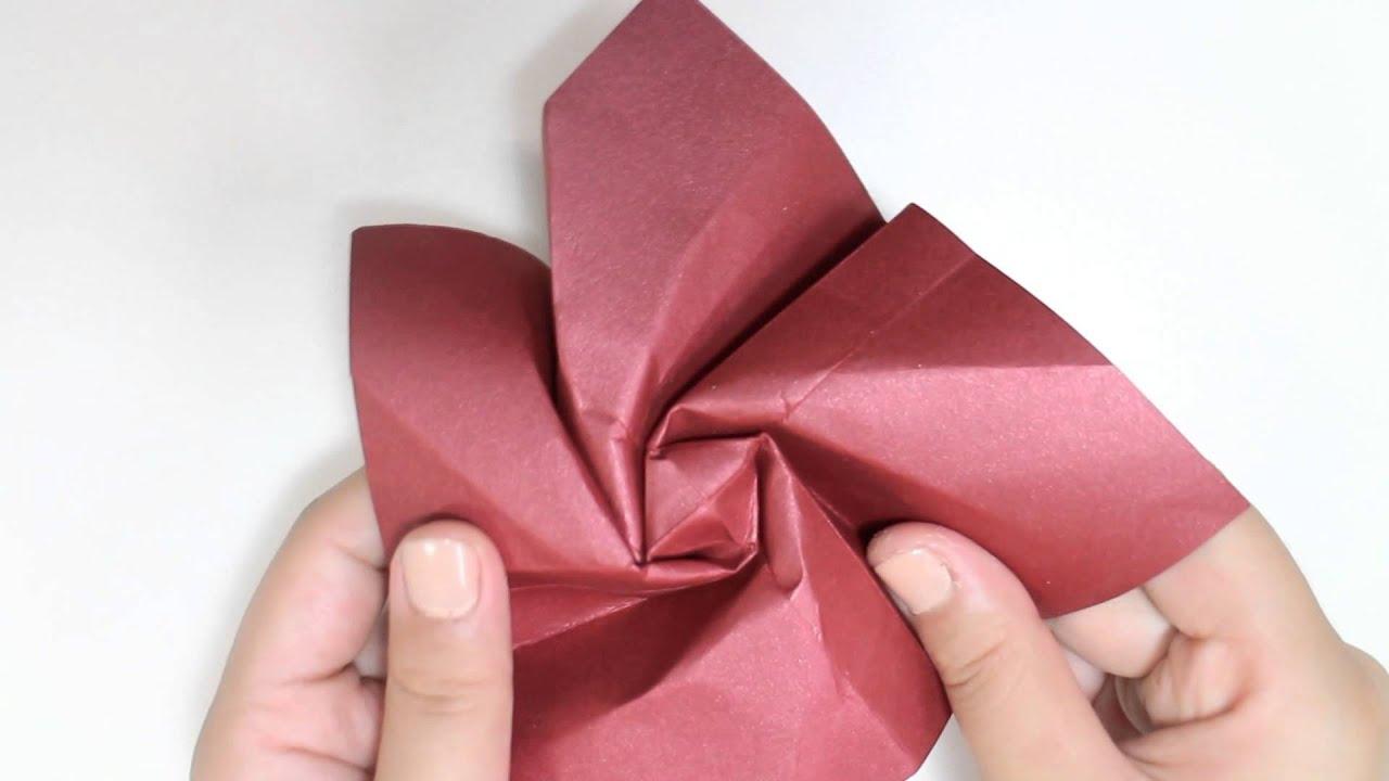 Origami Tutorial: Rosa | Rose - YouTube - photo#45