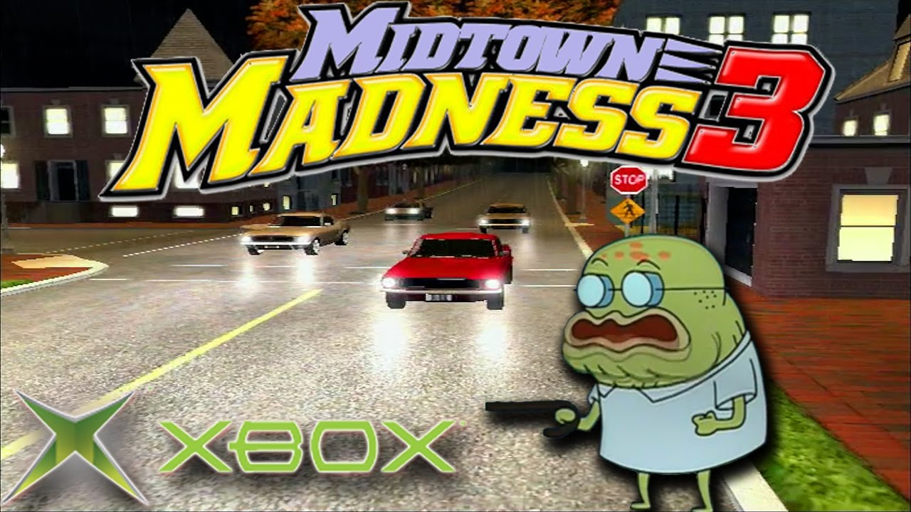 Old Xbox Games Racing Games : Midtown madness trickie at pickie checkpoint race