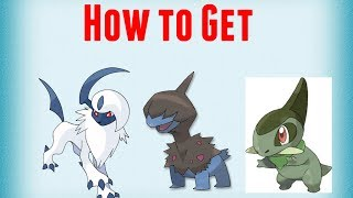 how to get a axew,deino and absol. (Project Pokemon Roblox)