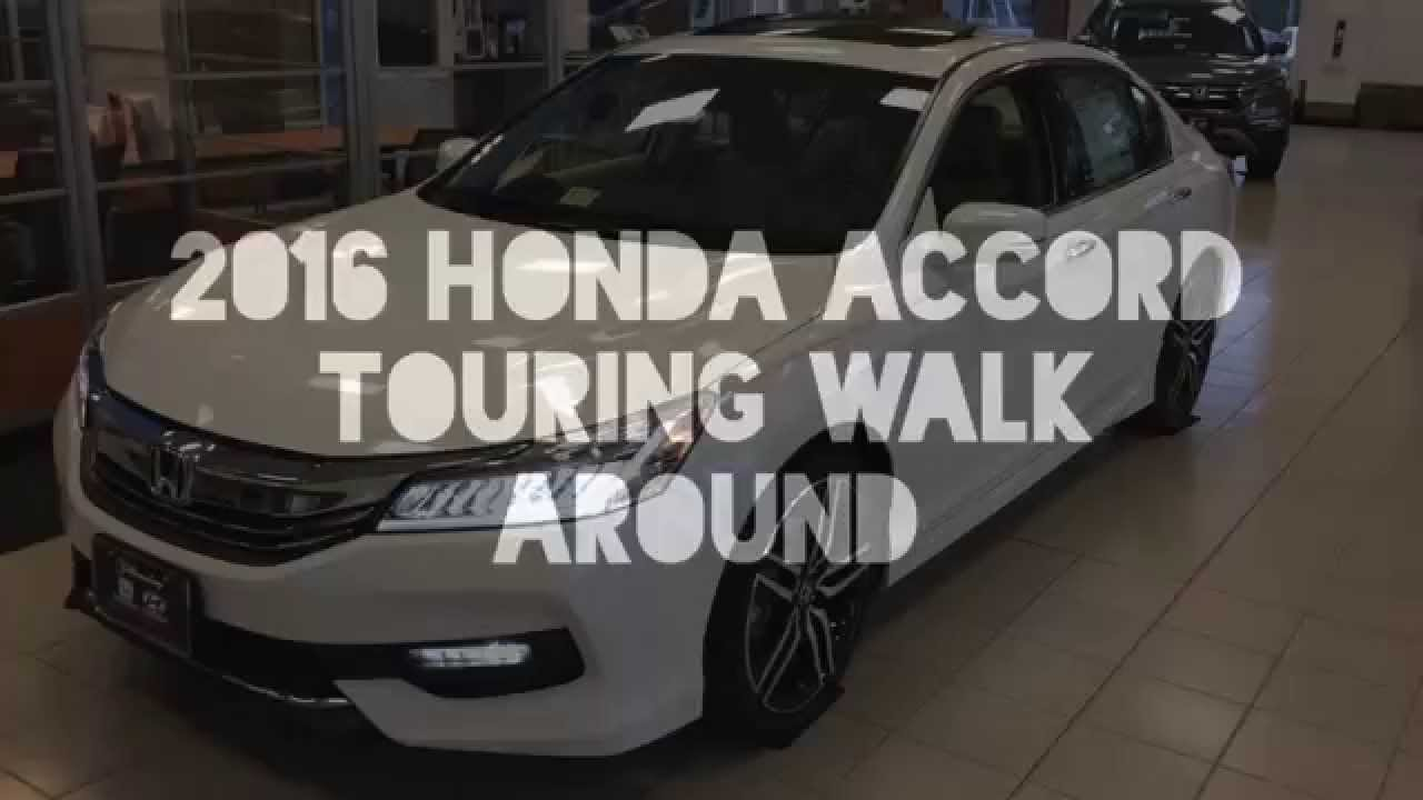 2016 Honda Accord Touring, LED Headlights, Display Audio And 19 Inch Wheels    YouTube