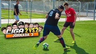 LIGA 2vs2 | JORNADA 3 | Retos de Fútbol [Crazy Crew]