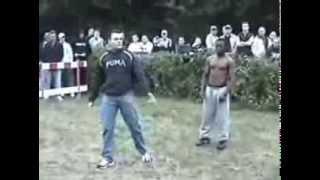 BLACK  MAN VS GYPSY! bareknuckle fight 2014