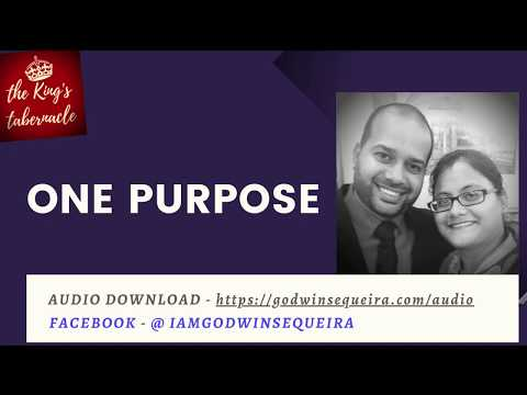 One Purpose - (English) || Godwin Sequeira