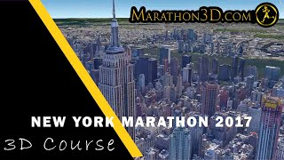 New York City Marathon 2017 3D Course