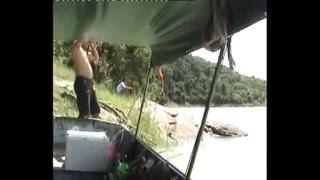 ตกปลากดคัง -แก่งกระจาน 2 Fishing  (Asian redtail catfish, Red tail Mystus, Siam Redtail Catfish)