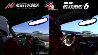 Assetto Corsa Vs Gran Turismo 6 - Ferrari 458 Italia @ Silverstone