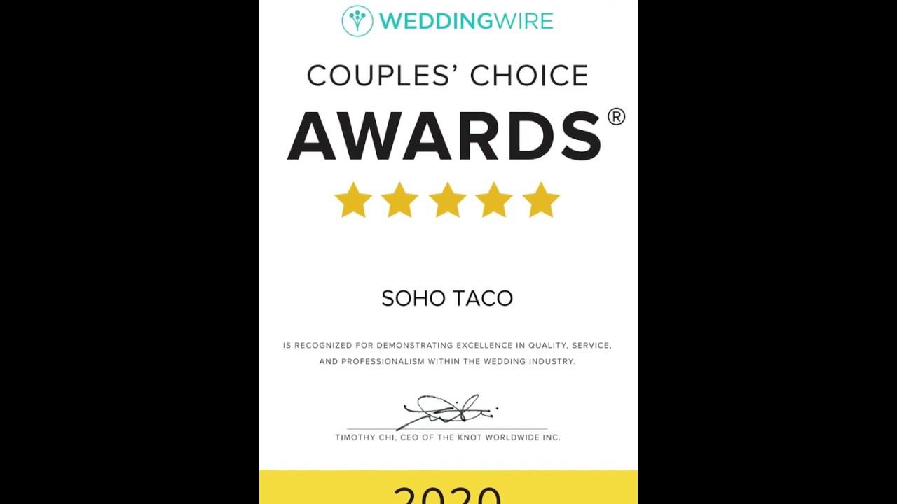 We Just Won The 2020 Weddingwire Couples Choice Awards Youtube