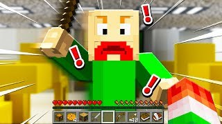 FINDING REAL BALDIS BASICS IN MINECRAFT! (FIND 9 PAGES!)
