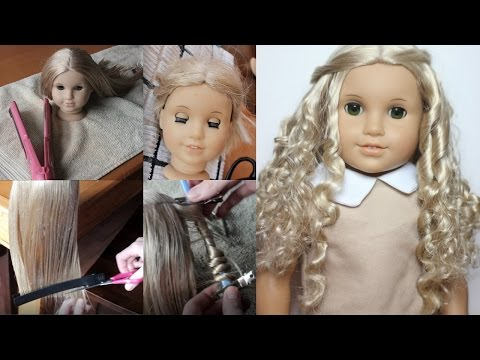 FIXING UP & CUSTOMIZING AN OLD AG DOLL (EYE SWAP, CURLING)
