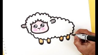 How To Draw A Cute SHEEP Easy